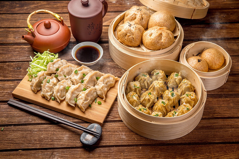 Food Menu Steamed bun and Dumplings