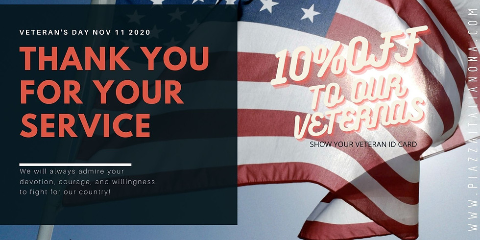 Veterans Day - 10%OFF - Thank You For Your Service
