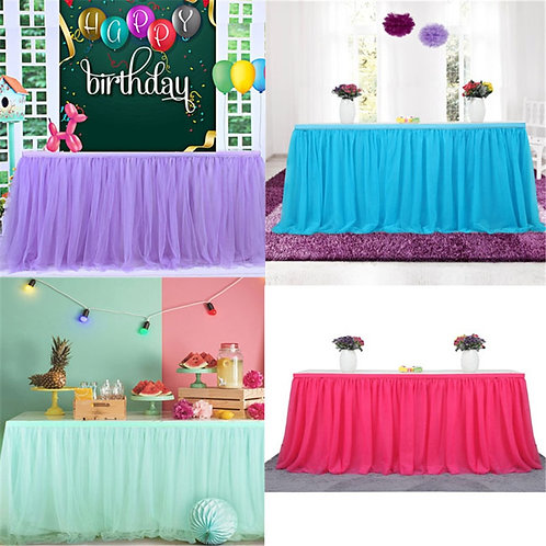 183 X77 Cm Wedding Party Tutu Tulle Table Skirt Cover Tableware