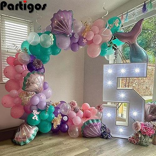 97pcs Mermaid Party Balloon Garland Arch Kit