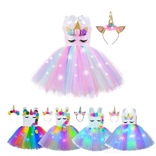 Girl Unicorn Dresses for Girls Tutu Princess Party Dresses
