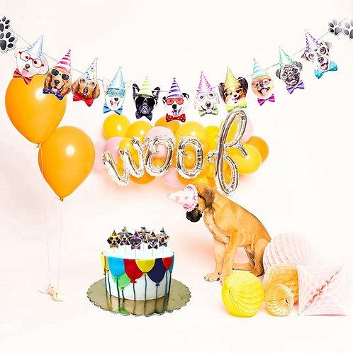 Happy Birthday Dog Party 12inch Balloons