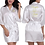 Thumbnail: Custom Logo Wedding Date Name Faux Silk Kimono Robe Women