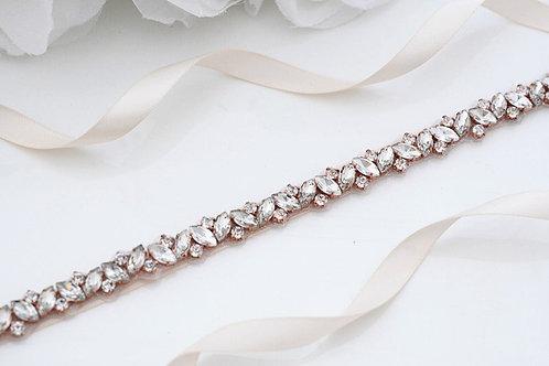 Wedding Belt Sash Silver Diamond Crystal