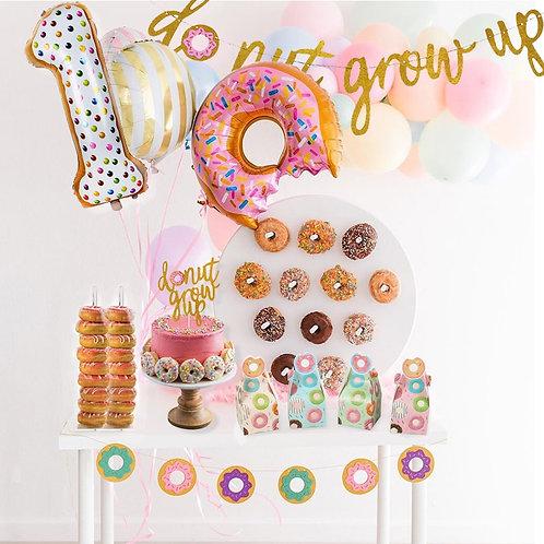 WEIGAO Donut Party Donut Grow Up Birthday Party Decoration