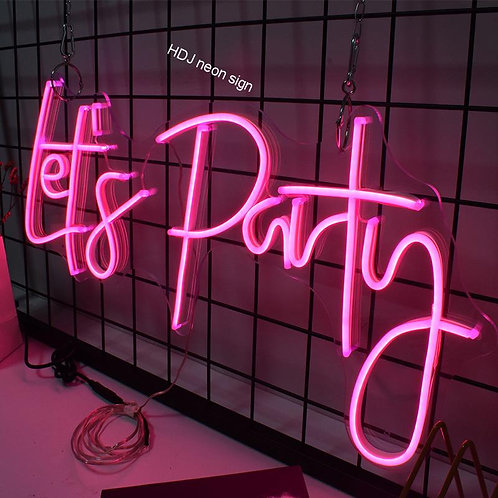 Let's Party Led Neon Sign