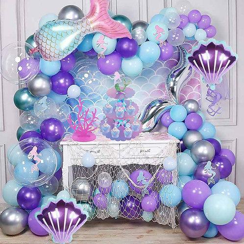 Mermaid Party Balloons Little Mermaid