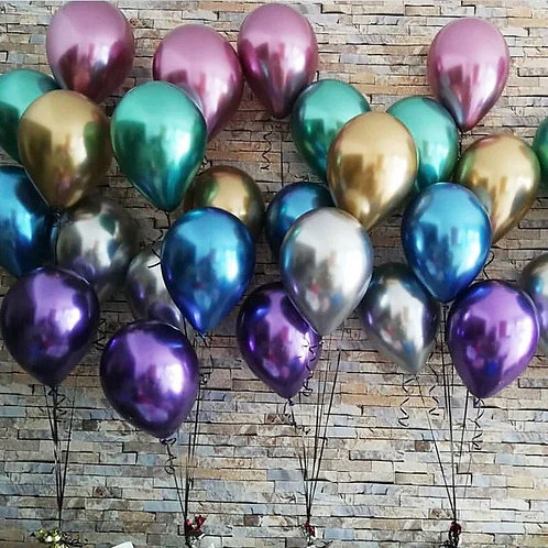 Chrome Balloons Balloon Latex Balloons 50pcs