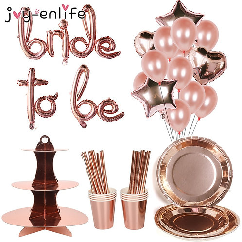 Rose Gold Team Bride to Be