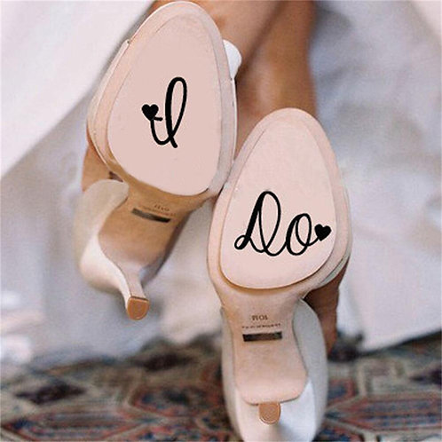 I Do Personalised Wedding Shoes Decal Vinyl