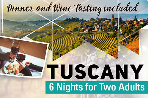 Tuscany for 6 or 8 Adults
