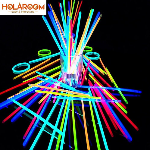 Glow Sticks Bracelets Necklaces Neon for Party