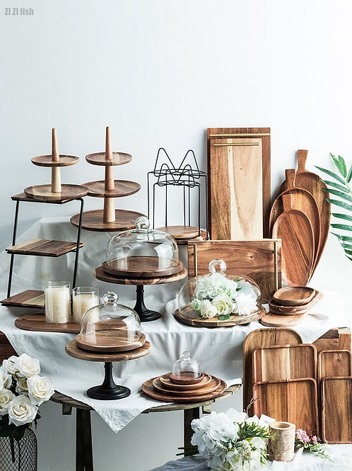Wooden Cake Stand| Dessert Tray |Display Stand