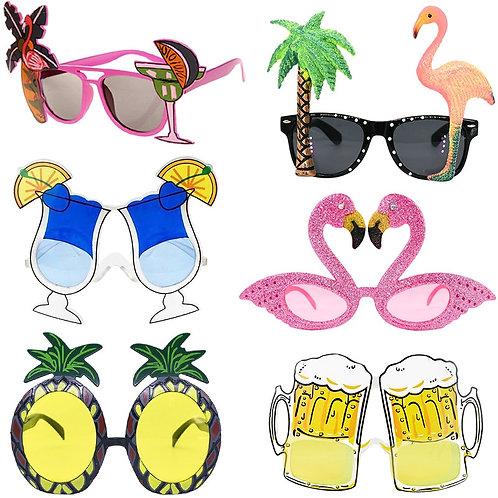 1pc Hawaii Tropical Party Sunglasses Flamingo Hawaiian Luau