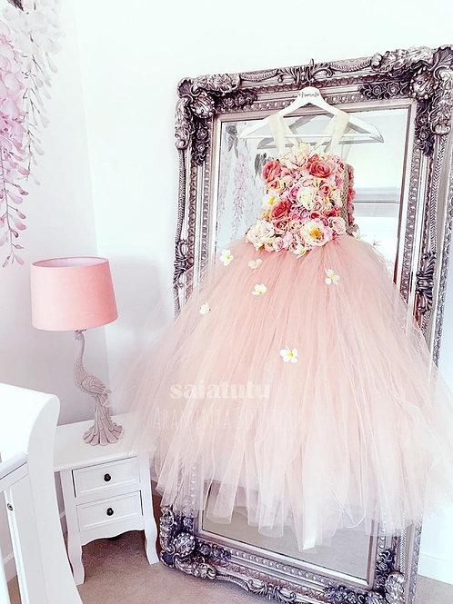 Pink Korean Inspired Kids Princess Dress