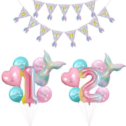 7pcs/Lot Mermaid Party Balloons