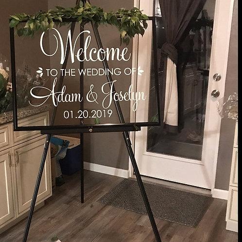 Welcome Wedding DIY Lettering Elegant Wedding Poster Decor J214