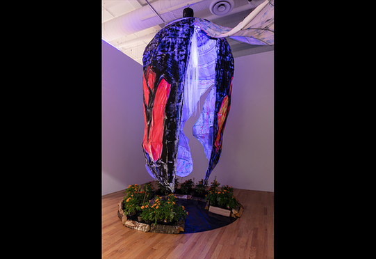 """Hector Duarte, """"Requiem for Two Spirits, Defenders of the Migrant Butterflies,"""" 2020. Photo: Jonathan Castillo"""