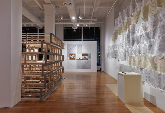Installation view, Glass Curtain Gallery – Columbia College Chicago, 2020. Photo: Jonathan Castillo