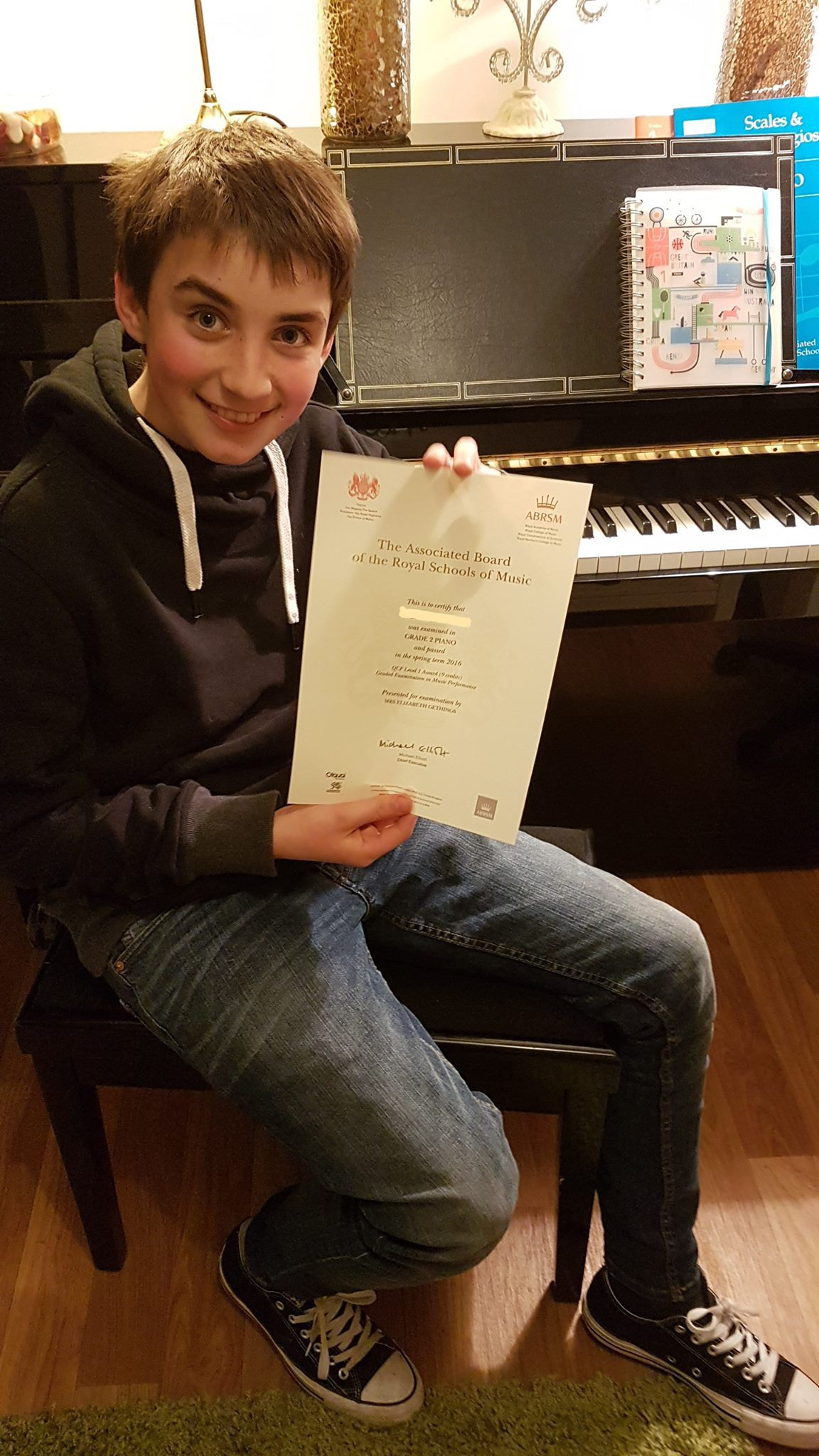 Proud owner of an ABRSM certificate