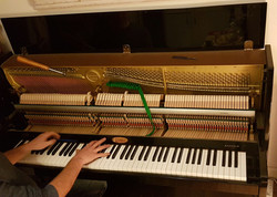 The workings of a piano!
