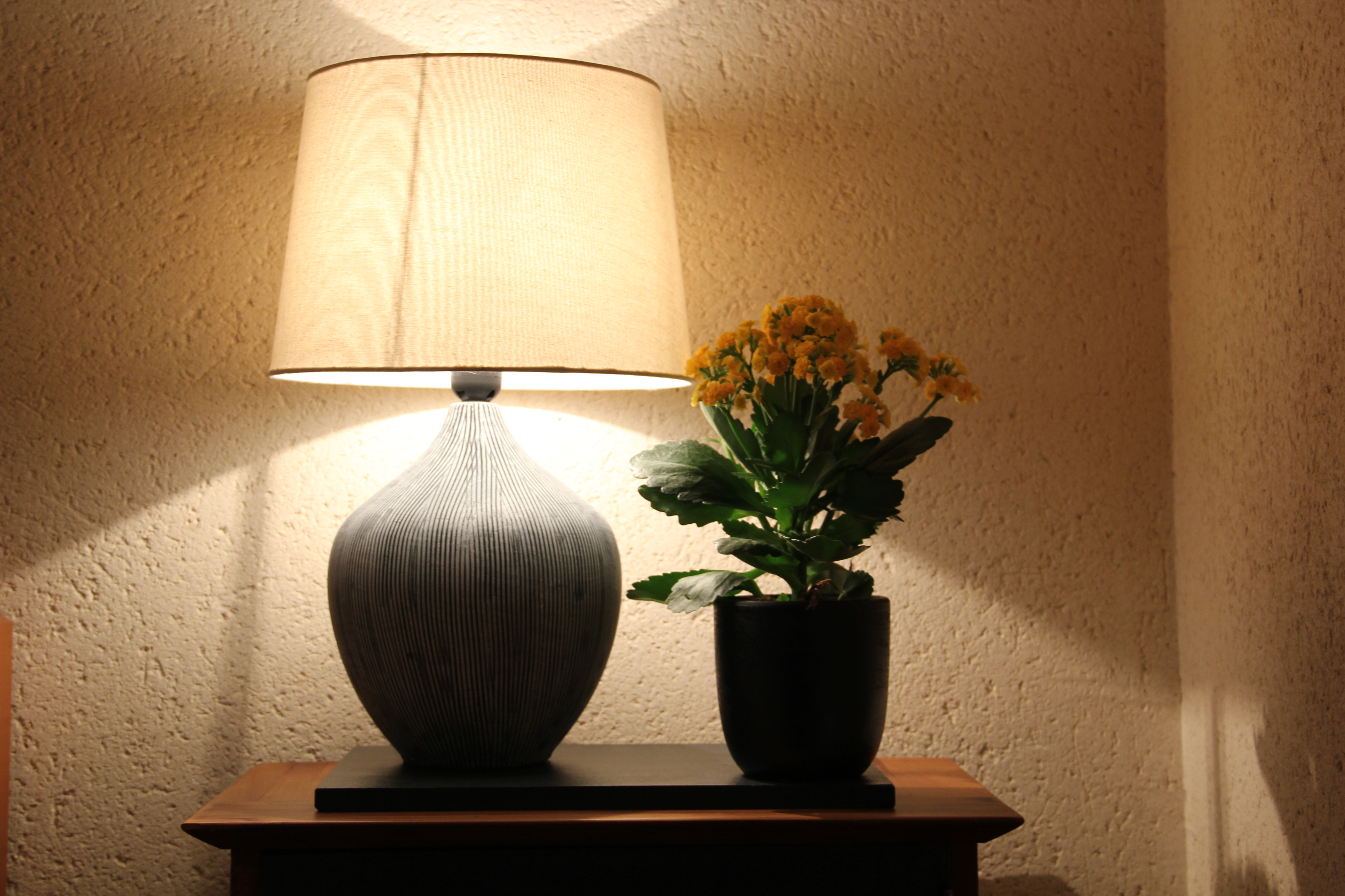 Lampe chevet chambre jaune