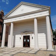 Greek-style portico & columns