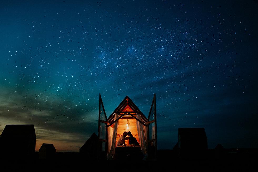 Artystyczne zdjęcie nocne