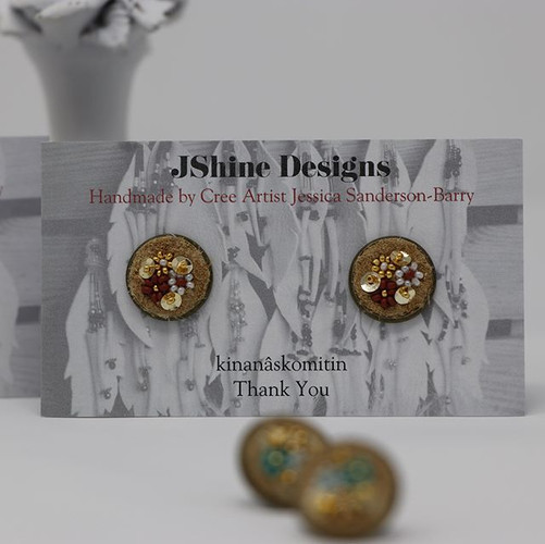"""""""nisto 🌺 home tanned hide"""" small earrin"""