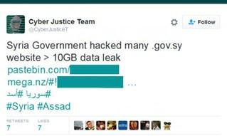 Hacktivistas vazam 43Gb de dados do governo sírio