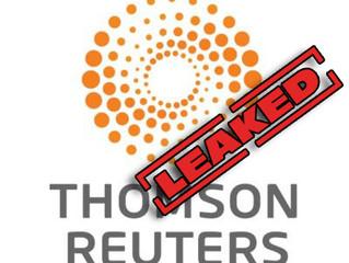 Thomson Reuters tem dados de terrorismo vazados