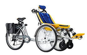 Huka Duet Wheelchair bike for special needs cycling