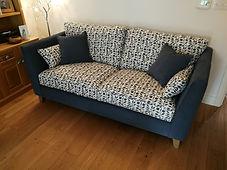 Fully upholstered sofa