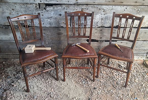Dining chairs with decrative nails