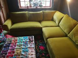 Linwood Omega Velvet Sofa