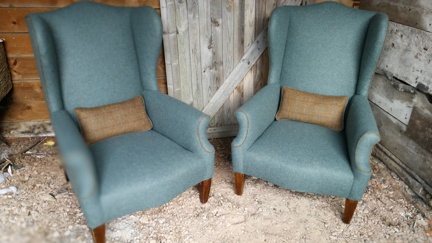 Wool Wingchairs