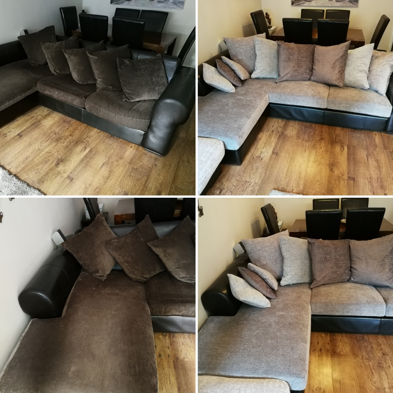 Sofa cushion seat inners and new back covers