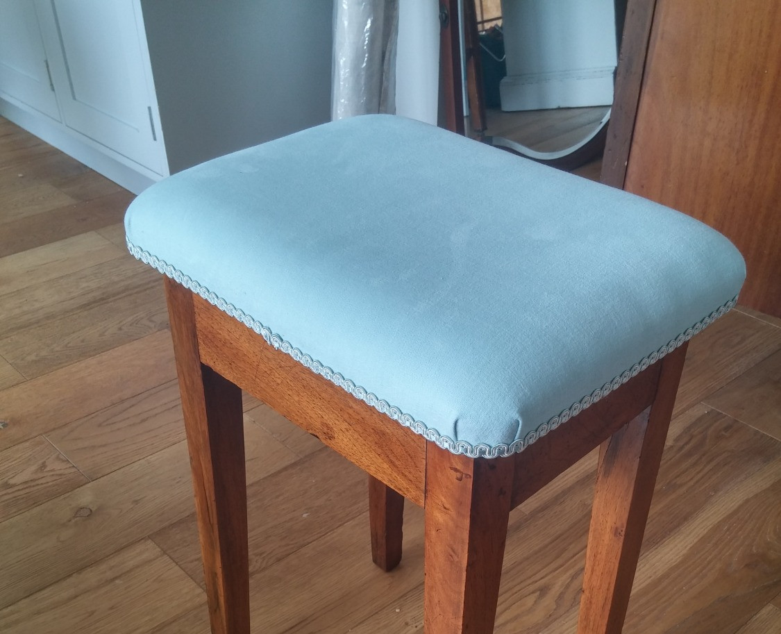 small stool with braid