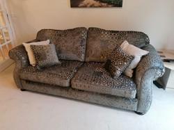 Patchwork velvet sofa