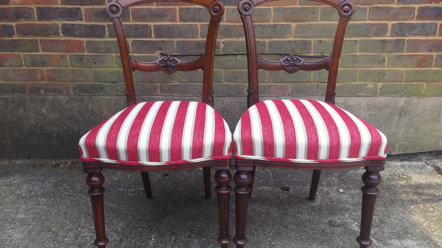 Stripped dining chairs