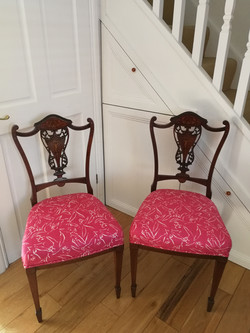 Dining chairs french polished