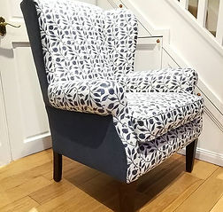 wingchair with designers guild and Morris&Co Fabric