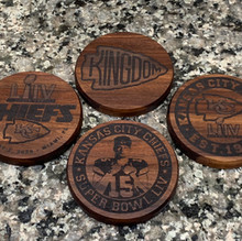 Chiefs Superbowl Coasters