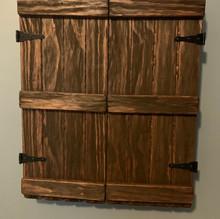 Custom Wall Mounted Rustic Jewelry Cabinet