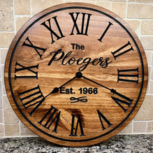"18"" Personalized Clocks"
