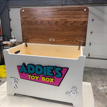 Custom Pine Toy Box 2