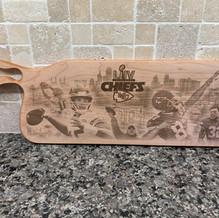 Chiefs Superbowl Bread Board