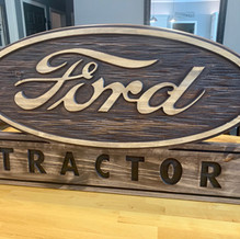 1950's Ford Tractor Logo Sign