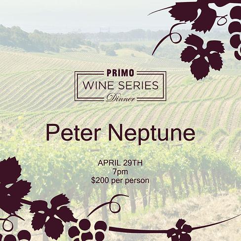 Peter Neptune Wine Dinner