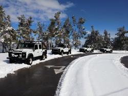 ג'יפים בשלג